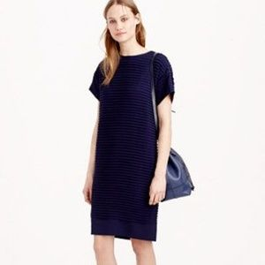 J.Crew Pleated Chiffon T-Shirt Dress